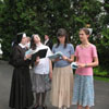 Practicing hymns for the annual May Procession